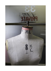 Private Mannequin © (wpnewington) Tags: mannequin dummy private 33 typography fonts numbers