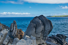 Dragon Molar (Kirt Edblom) Tags: maui mauihawaii kapalua kapaluahawaii hawaii makalupuna makalupunapoint point gaylene wife water waves waterscape milf rock rocks rockformation lava lavaflows blue bluesky bluewater pacific pacificocean ocean landscape serene seascape scenic oceanside wave shore shoreline clouds kirt kirtedblom edblom luminar nikon nikond7100 nikkor18140mmf3556