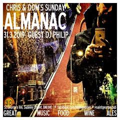 diary #2319: Sunday Almanac 31.3.2019