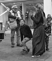 (cyril.crn) Tags: lille france europe nord people street blackandwhite bw monochrome children balloon surprise blackwhite