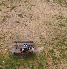 Conversation from above (JLM62380) Tags: conversation fromabove camargue aiguesmortes people men bench pelouse grass