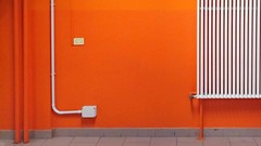 composition - 62 (Rino Alessandrini) Tags: red door architecture nopeople entrance architectureandbuildings metal wallbuildingfeature colorimage outdoors inarow builtstructure buildingexterior everypixel abstract minimalistic composition shapes geometries interior wall orange white tubes