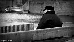 Le vieil homme et la mer (patrick_milan) Tags: brest port man hat mer sea homme marin sailor