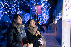 Young women looking for restaurant after shopping at Christmas night (Apricot Cafe) Tags: ap2a8116 asia asianandindianethnicities christmas christmastree japan japaneseethnicity minatoward roppongi sigma35mmf14dghsmart tokyojapan capitalcities carefree casualclothing christmaslights citylife citystreet coatgarment colorimage consumerism copyspace enjoyment friendship happiness illuminated leisureactivity lifestyles lightingequipment lookingaway map night onlywomen outdoors people photography realpeople scarf shopping shoppingbag sideview smiling togetherness toothysmile twopeople waistup watching winter women youngadult