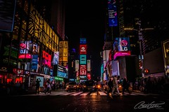 Times Square by night (corineouellet) Tags: exposure travel nightshot canonphoto canon pov hdr timessquare newyorkcity newyork nyc lights nightlights nightscape nights night