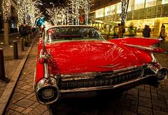59 years old Cadillac (sapphire_rouge) Tags: marunouchi bride wedding car illumination 丸の内 丸の内中通り cadillac nakadouri tokyo