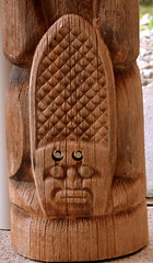 WEST COAST NATIVE ART, CARVED WOOD TOTEMS, UBC, VANCOUVER. BC. (vermillion$baby) Tags: nativeart art carvng color firstnations red totem westcoast wood artsculpture native pacificnorthwest artofnorthamerica artofnativenorthamerica museum carving sculpture woodcarving museums artofthenative nativeamerican indian gallery aborigine