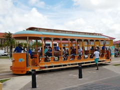 Aruba Streetcar (Stabbur's Master) Tags: cruising cruise carnivalcruiseline caribbeancruising caribbeansea caribbeanisland aruba arubastreetcar arubatram arubus publictransit publictransportation tram trolley streetcar oranjestad oranjestadstreetcar