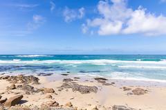 Turquoise sea at Sennen Cove, Cornwall (Zoë Power) Tags: sennenbeach turquoisesea ukcoast sandybeach sennen uk sennencove blueskies waves cornishcoast beach aqua cornwall tropical sea