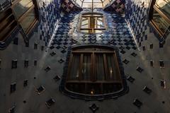Casa Batlló (michael_hamburg69) Tags: barcelona spain spanien barcelone barcelonés barcelonesa barcellona espagne españa spagna xībānyá katalonien catalonia cataluña städtereise casabatlló street night lights building passeigdegràcia43 gaudí modernisme antonigaudí tiles blue architecture