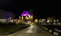 purple (Fay2603) Tags: lila purple night nacht notte sera buildings gebäude strasse street river fluss wasser romantic lights beleuchtung illuminated germany deutschland badenwürttemberg schwbenland schwäbisch gmünd reflection spiegelung