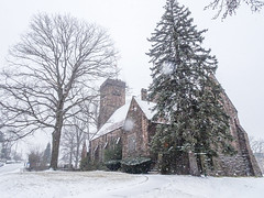 Snow Falling (JMS2) Tags: church snow winter flakes scenic architecture worship building weather cold snowstorm