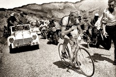 1955 TDF Louison Bobet's pain... (Sallanches 1964) Tags: tourdefrance 1955 louisonbobet rainbowjersey worldchampionroadcycling mountainstage alps