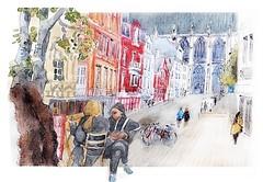 Rouen - Normandie - France (guymoll) Tags: rouen normandie france croquis sketch aquarelle watercolor watercolour aguarela acuarela colombage cathédrale