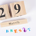 Brexit date of 29th March on calendar