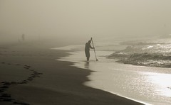 Early Morning Fisherman (The Vintage Lens) Tags: fishing fisherman early morning mist ocean waves tides