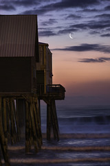 Old Orchard Moonrise (abhijitcpatilphotography) Tags: moon moonrise lunar satellite crescentmoon telephoto telezoomshots zoom landscapes nikon tamron night sky clouds ocean pier beach dawn morning shadows light longexposure waves