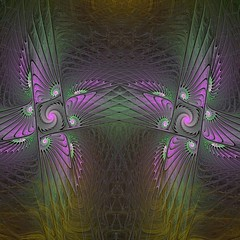 Dream & Abstraction (bloorose-thanks 4 all the faves!!) Tags: abstract art didital gnarl flame fractal flamelet