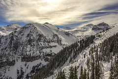 Peaks in Telluride (.enKay) Tags: canon canon60d telluride unitedstates usa clouds colourful colorful color trees tree mountain mountains landscape landscapephotography blue hiking travel travelphotography travelling vacation holiday horizon vista sun