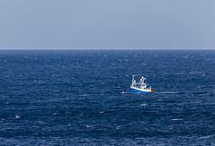 Blue on Blue (Mac ind Óg) Tags: portknockie summer scotland moray morayfirth walking boat holiday blue buckie seascape