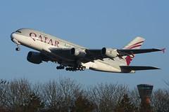 A7-APE Airbus A380-861 EGLL 14-12-17 (MarkP51) Tags: a7ape airbus a380861 a380 qatarairways qr qtr london heathrow airport lhr egll england airliner aircraft airplane plane image markp51 nikon d7200 sunshine sunny aviationphotography