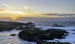 Ermida Nosa Señora do Porto (JMFVERAS) Tags: 2019 ocaso sunset hermita ermida chapel sea seashore beach mar oceano ocean rocas rocks riffs acantilados isla island landscape seascape panorama