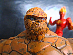 The Thing & Human Torch (THE AMAZING KIKEMAN) Tags: marvel 2 one the thing human torch fantastic four 4 comics diamond select toys toy biz flame ben grimm johnny storm