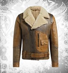 Devilson Shealing Aviator Leather Jacket (devilsondotcom) Tags: leather jackets mens fashion shearling fur vintage winter summer