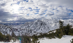 Winterstimmung (schasa68) Tags: austria oberösterreich upperaustria outdoor winter snow schneeschuhtour mountains berge wolkenstimmung sky nature natur landscape landschaft olympus