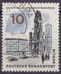 Deutsche Briefmarken (micky the pixel) Tags: briefmarke stamp ephemera deutschland bundespost berlin gebäude building kirche church gedächtniskirche kaiserwilhelmgedächtniskirche breitscheidplatz
