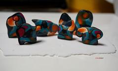 NEW BEADS (Fimeli) Tags: beads perlen schmuck polyclay polymerclay handmade handwork colors