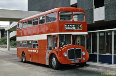 HKG 732D National Bus Company NBC Western Welsh 732 AEC Renown with Northern Counties body at Newport Aug73 (Copy) (focus- transport) Tags: buses coaches national bus company nbc east midlands western welsh united wessex trent red white yorkshire devon general bristol kent wilts dorset london counties lincolshire road car alder valley crosville southdown west northern leyland leopard olympian tiger cub atlantean willowbrook eastern coachworks ecw plaxton park royal alexander roe mcw metrocammell mw ld lodekka vrt ls5g sc4lk rell6g daimler fleetline crg6lx aec renown