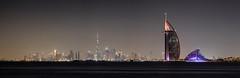 Downtown skyline (world.wideweg) Tags: dubai unitedarabemirates vereinigtearabischeemirate uae palm palmjumeirah city cityscape sea burjalarab thewave burjkhalifa skyline waterfront