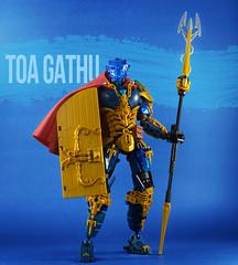 Toa Gathu (Gamma-Raay) Tags: lego moc legomoc toa water charicter hero blue gold