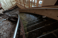 Icy (rantropolis) Tags: abandoned ski resort stairs ice winter entertainment center urbex urbanexploration nikon d750 15mm