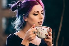 Teatime (mayasokou) Tags: mayasokou makeup portrait tea alternative model bluehair berlin