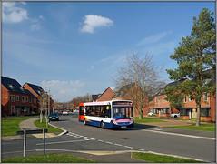 37056, Kent Road South (Jason 87030) Tags: pink 15 acrelane stagecoach midlands e200 enviro kentroadsouth estate stcrispn northants northamptonshire march 2019 saturday match game bus 37056 houses