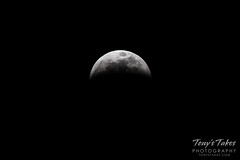 January 20, 2019 - The lunar eclipse takes a bite out of the moon. (Tony's Takes)