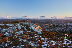 Five Mountains (Donald Beaton) Tags: uk scotland highlands europe assynt coigach achmelvich lochinver canisp suilven cul mor beag stac pollaidh polly mountains hills mountain hill graham grahams corbett corbetts landscape viewpoint scene scenery winter snow cold january 2019 sony a7 fe 24105