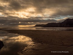 Sunset over Caswell Bay 2019 01 25 #8 (Gareth Lovering Photography 5,000,061) Tags: sunset sun sunny sunshine caswell gowercoast gower swansea wales seaside landscape beach walescostalpath olympus penf garethloveringphotography