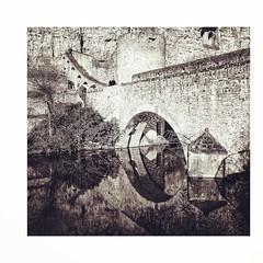 Réflection (joannab_photos) Tags: oldtown blackandwhite reflection bridge luxembourg