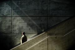 agent smith (/ urban.fishing /) Tags: escalator agent smith humaningeometry urban subway street fuji xt1 concrete suspicious secretly
