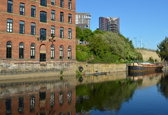 Reflections at Leeds (Tony Worrall) Tags: leeds yorkshire yorkshirephotos river wet water urban architecture building built city homes north update place location uk england visit area attraction open stream tour country item greatbritain britain english british gb capture buy stock sell sale outside outdoors caught photo shoot shot picture captured ilobsterit instragram