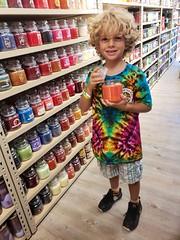 Everett In Yankee Candle (Joe Shlabotnik) Tags: 2018 deerpark candle everett tanger august2018 galaxys9 yankeecandle cameraphone justeverett