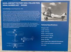 Naval Aircraft Factory N3N-3 Sign (Serendigity) Tags: arizona pimaairspacemuseum tucson usa unitedstates aircraft aviation hangar indoors museum unitedstatesofamerica