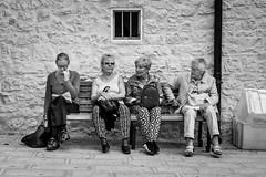 Breaktime (alexhaeusler) Tags: break people bench blackwhite street