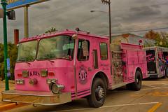 Wearing Pink (kendoman26) Tags: htt happytruckthursday fireengine pink morrisillinois morrisillinoiscruisenight hdr nikhdrefexpro2 nikon nikond7100 tokinaatx1228prodx tokina tokina1228