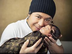 Nui and Nawinda (martinyasmine) Tags: bl㥠newborn baby portrait asian ethnic children kids strobe