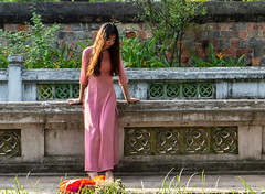 Vietnamese girl (ravalli1) Tags: vietnam hanoi girl women traditional aodai pretty vacations dress southeastasia