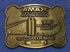 Amax Belle Ayr Buckle (Coalminer5) Tags: coalmining coalminer coalmemorabilia coalcollectibles mining miningmemorabilia miningcollectible miningartifacts amax belleayrmine coalsilo coaltrain coalbuckle miningbuckle beltbuckle miningbeltbuckle coalbeltbuckle amaxcoal westerncoal